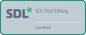SDL Post Editing Certified